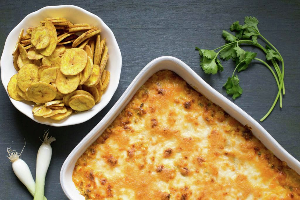 Sriracha Bean Hot Dip with Corn