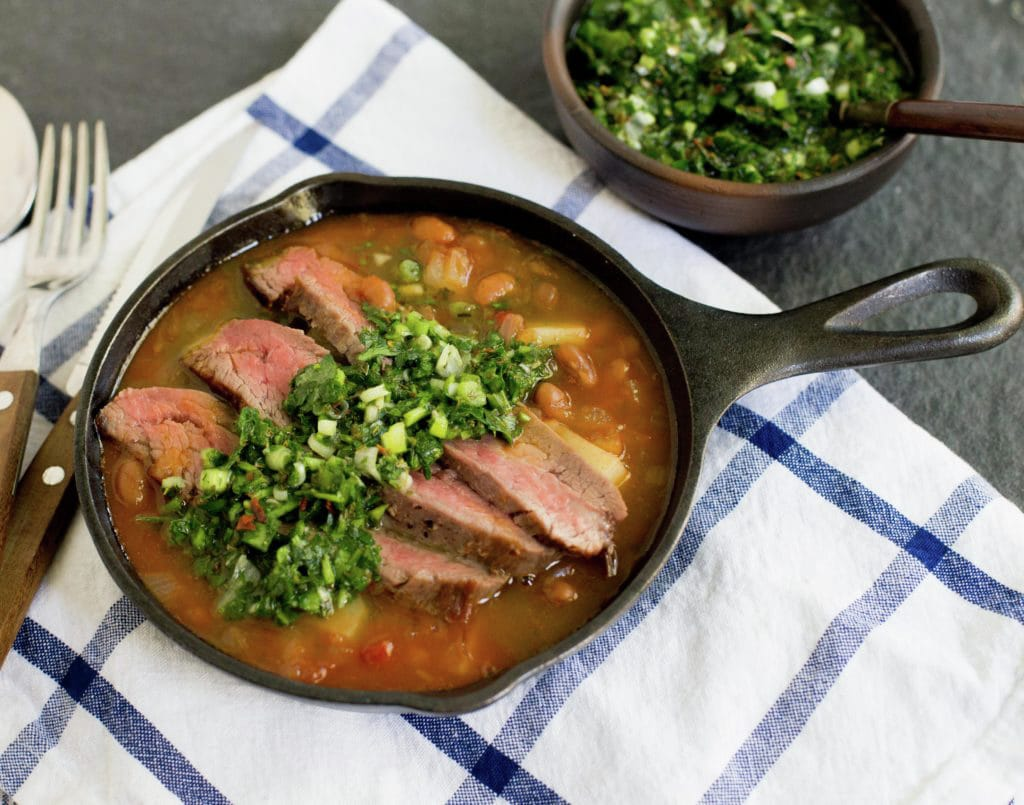 Chimichurri & Seared Steak Stew