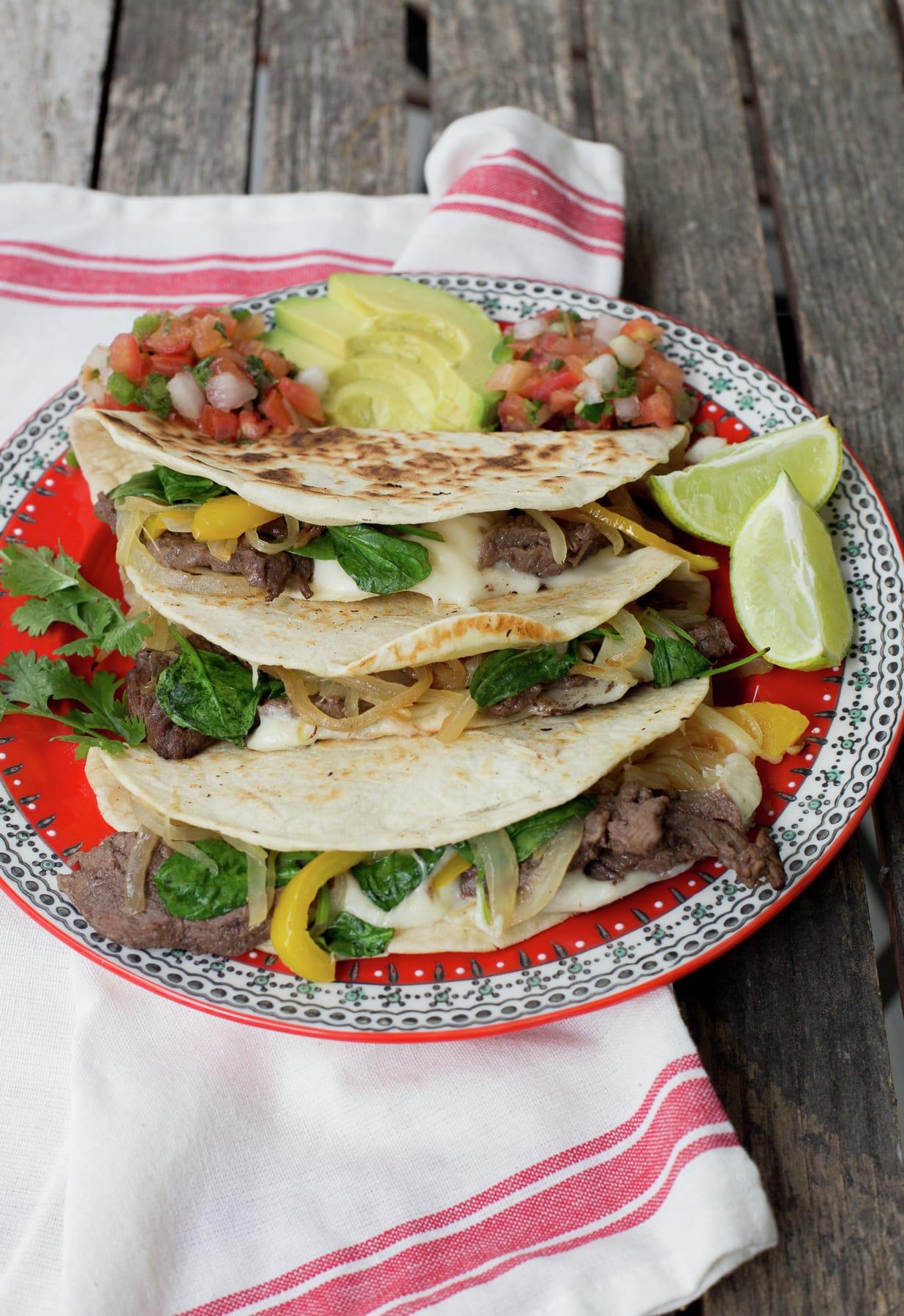 Healthy Cheesesteak Quesadilla