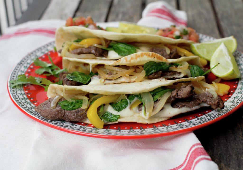 Healthy Cheesesteak Quesadilla