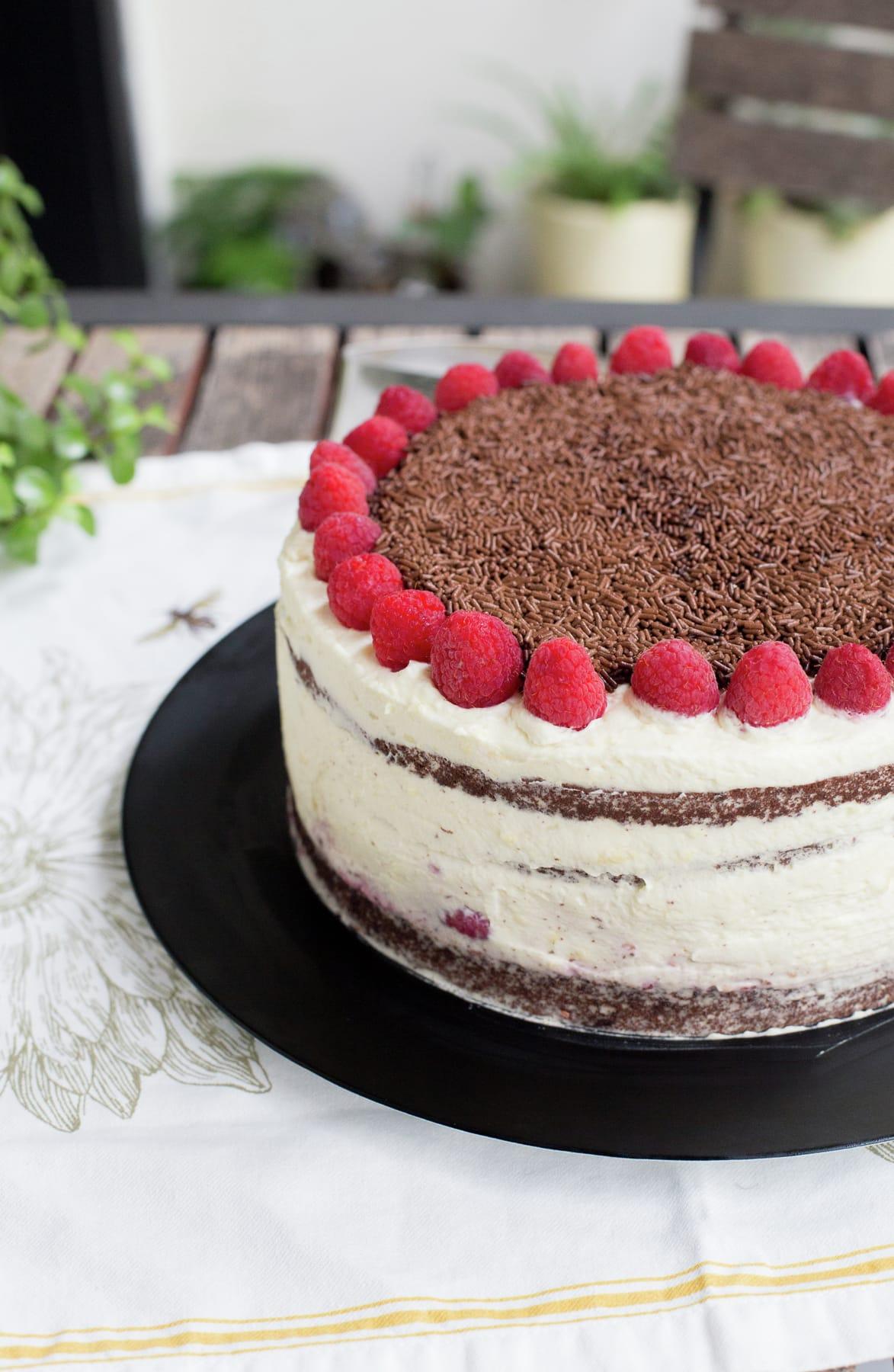 Raspberry Dulce de Leche Chocolate Cake