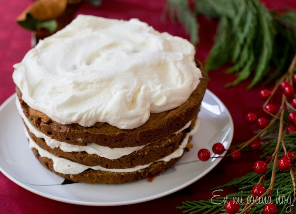 Layered Fruit Cake with Cream Cheese Frosting