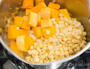 Squash and corn for granados