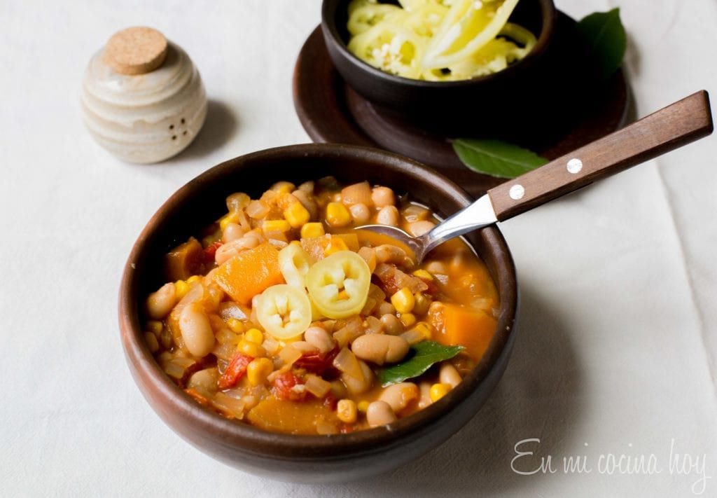 Chilean Bean Stew Porotos Granados