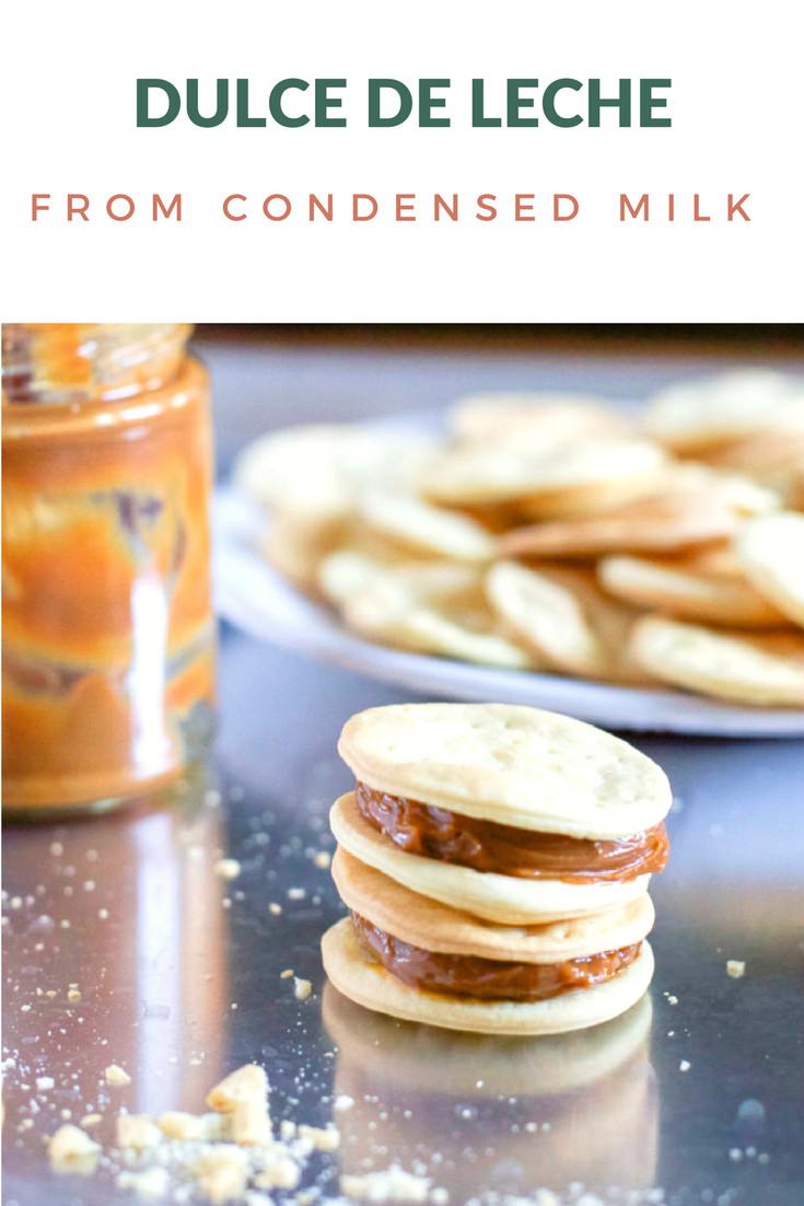 Condensed milk into Dulce de Leche