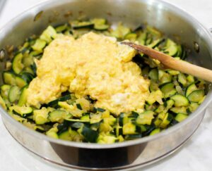 bread added to zucchini