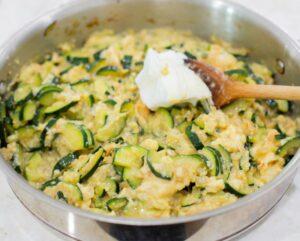 Adding the egg whites