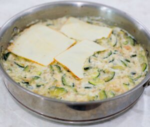 top with sliced cheese