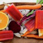 Vampiro Paletas: Beet, Carrot and Orange juice