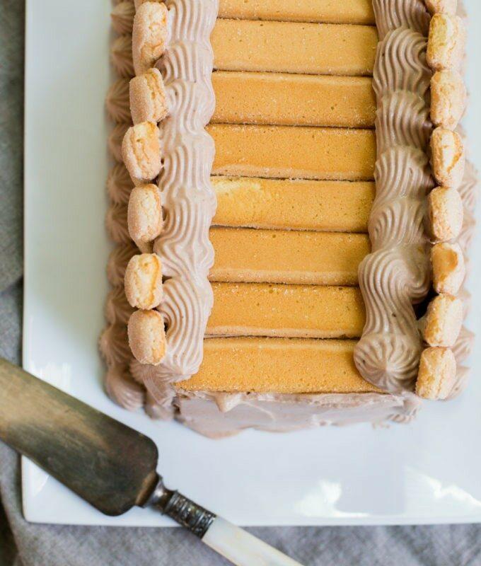 ChocolateLadyfingers Icebox Cake