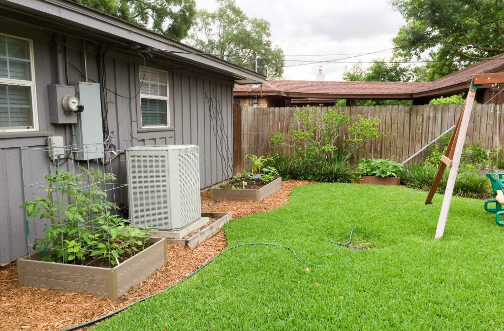 Meyerland garden: raised beds