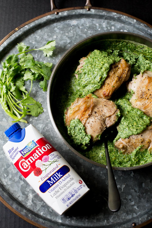 Cilantro Garlic Sauce with Chicken