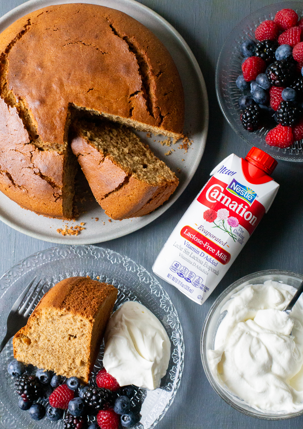 Cafe Latte Pound Cake with Evaporated Milk