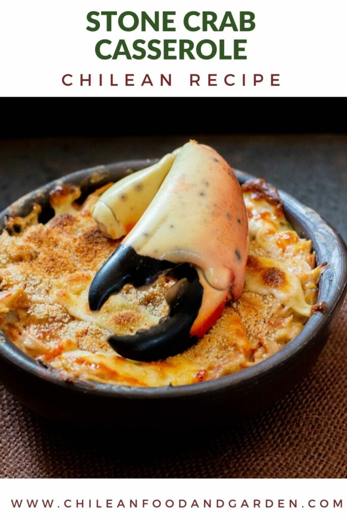 Stone crab chilean casserole Pastel de Jaiba Chupe de Jaiba