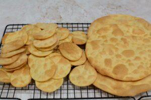 Alfajor wafers baked